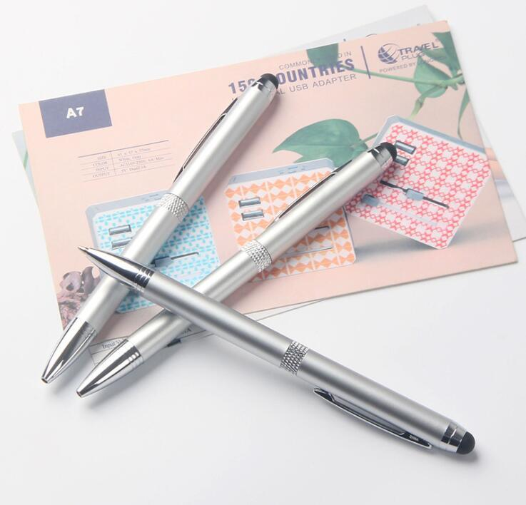Metal Twist Stylus Touch Screen Ballpoint Pen