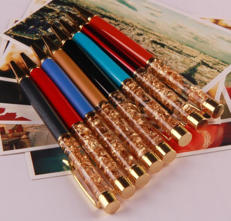 Promotional Gift Metal Twist Ball Pen with Crystal Decoration