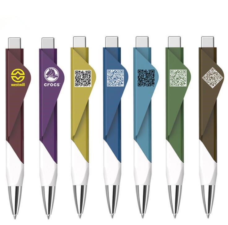Bulk order pens with custom logo promotional plastic ball pen