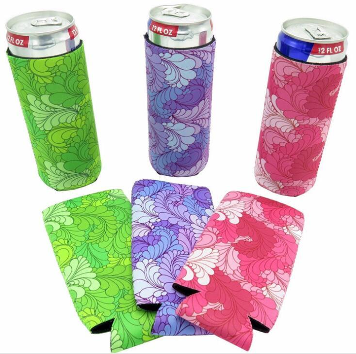 12 Oz Neoprene Customizable Slim Can Cooler Holder
