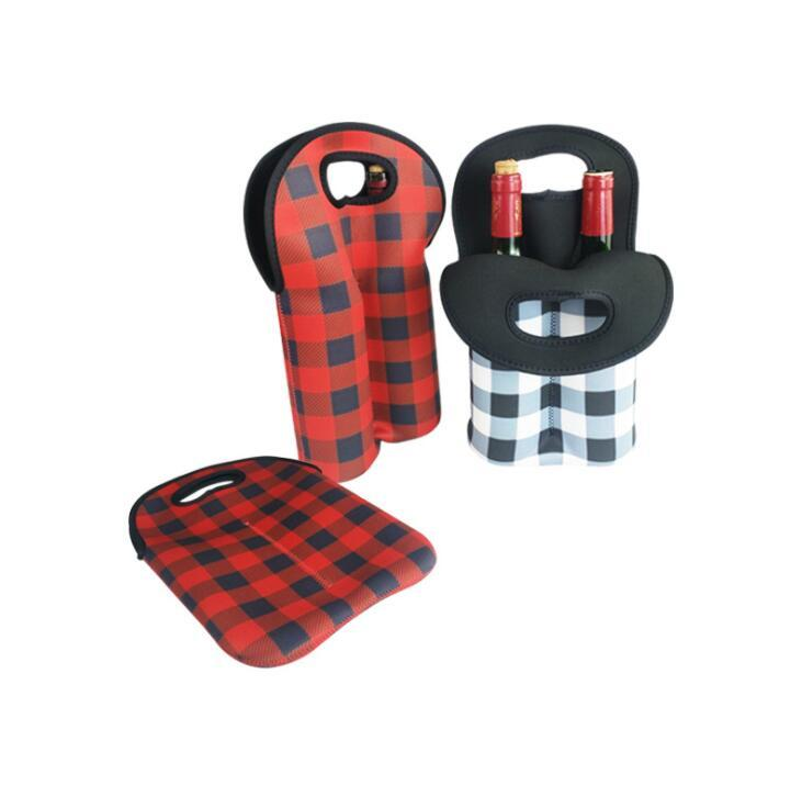 Promotional Neoprene Two Wine Bottle Cooler Wine Bottle Sleeve