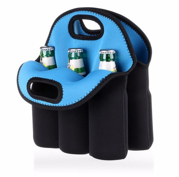 China Factory Supply Neoprene Cooler 6 Pack Beer Can Holder Carrier Bag
