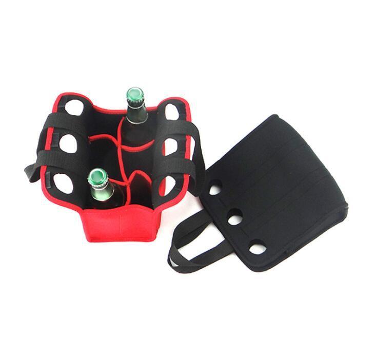 Custom 6 Pack Insulated Neoprene Beer Bottle Cooler Bag With Handle