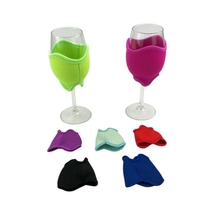 Wholesale Insulated Neoprene Wine Glass Cooler Holder