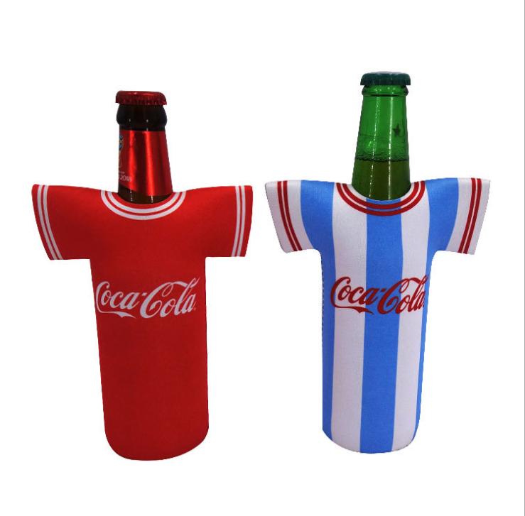 Wholesale Custom Neoprene T-Shirt Shape Beer Beverage Drink Bottle Cooler