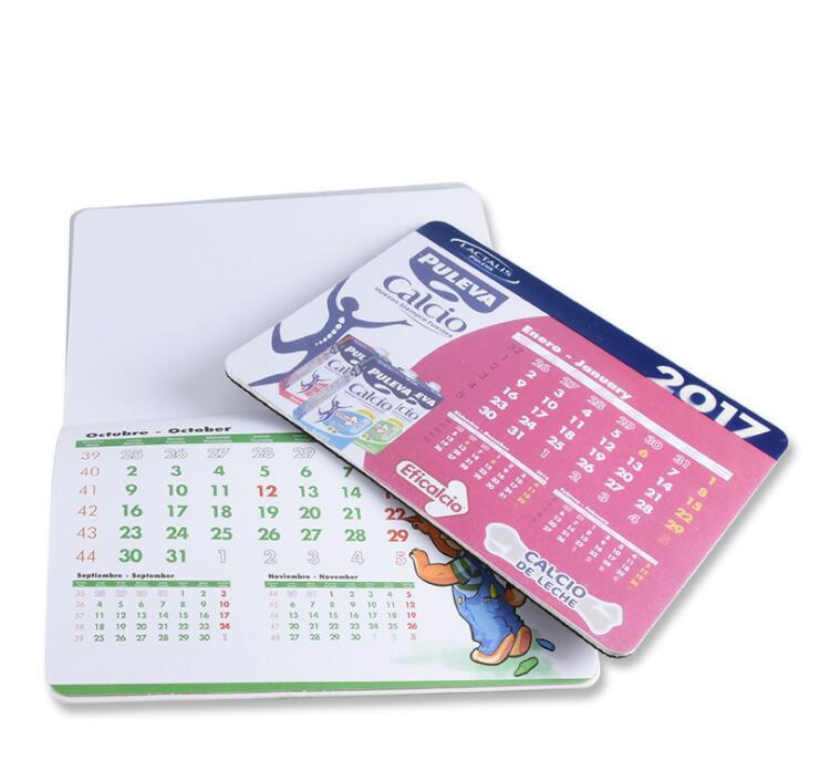 custom embroidered keychain & mouse pad calendar