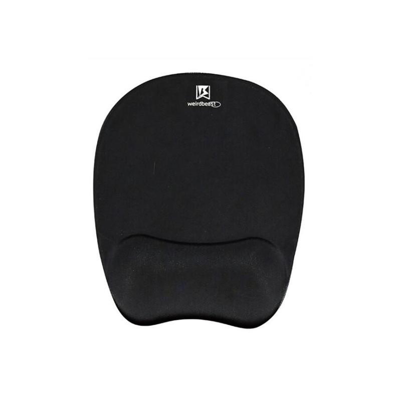 Custom Printed 3D Silica Gel Wrist Rest Mouse Pad Black