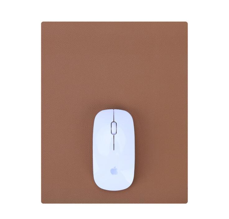 Customized Logo Embossed PU Leather Mouse Pad
