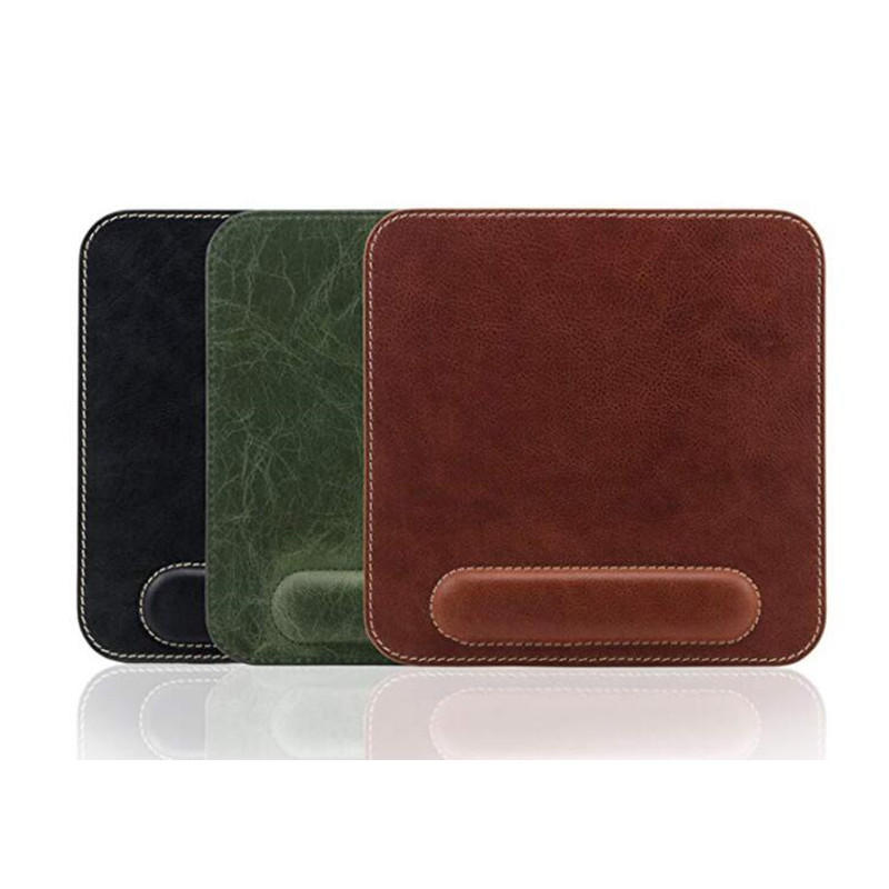 pu leather mouse pad & retractable card holder