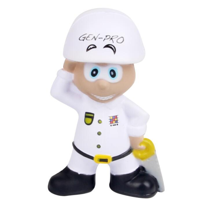 Customized Logo Worker Shape PU Stress Toy