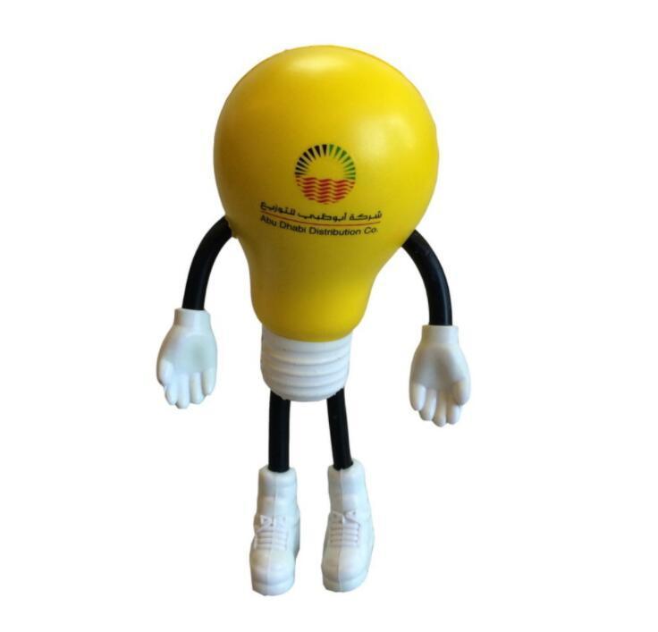 Wholesale Bulb Shape Stress toy with Customized Logo