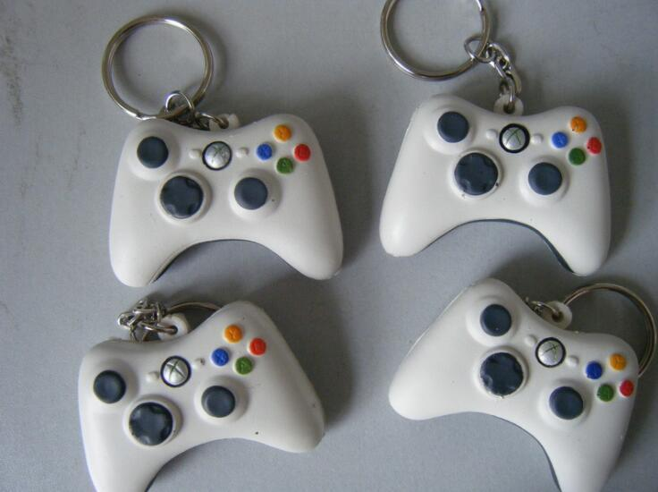 Gamepad Shape PU Anti Stress Ball Toy with Keyring