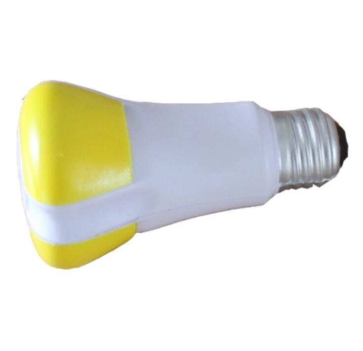 Custom Logo Printed PU Stress Bulb Toy for Promotion