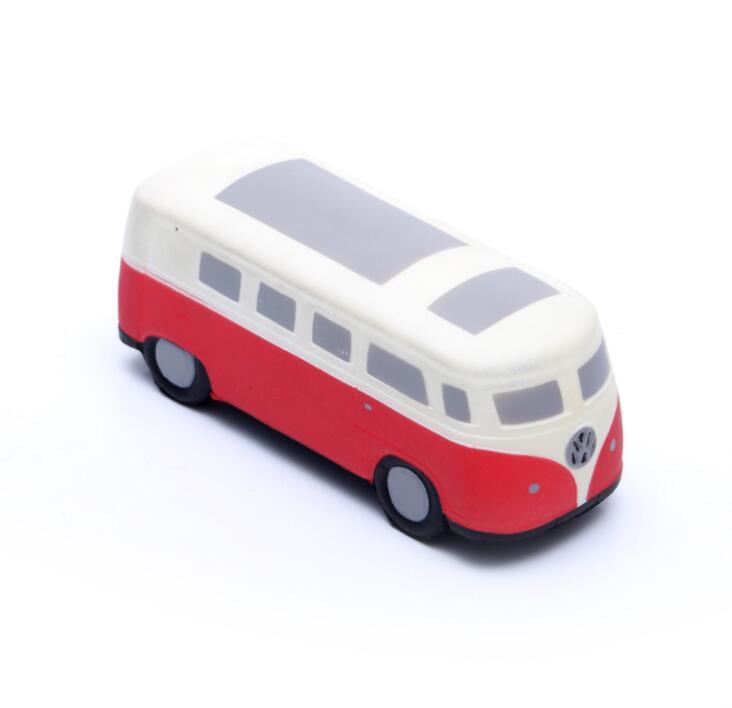 China Supply Bus Shape PU Foam Promotional Stress Toy