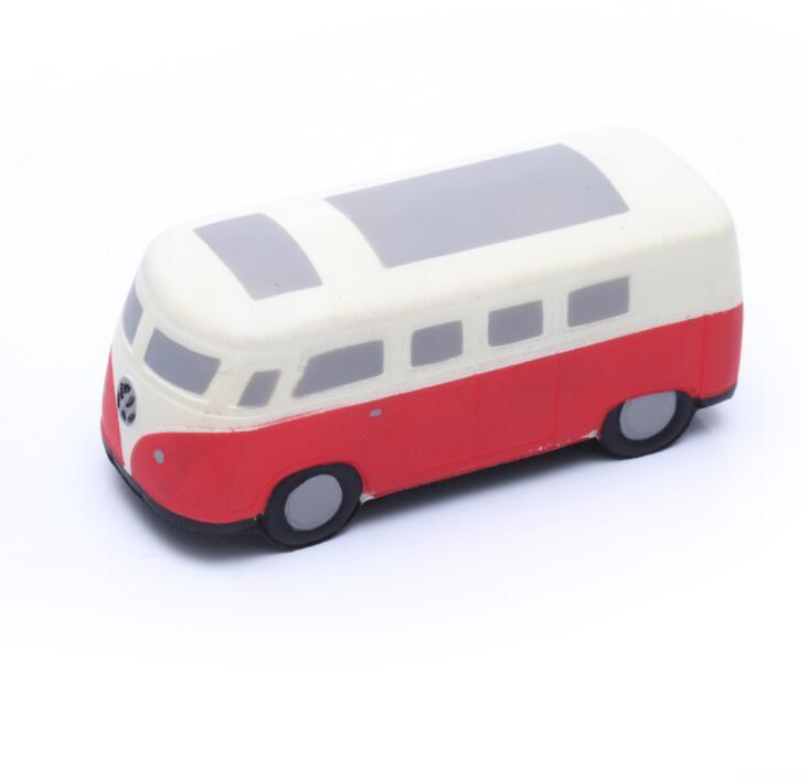 China Supply Bus Shape PU Foam Promotional Stress Toy