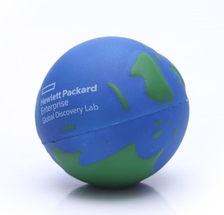 PU Foam Earth Shape Stress Squeeze Ball
