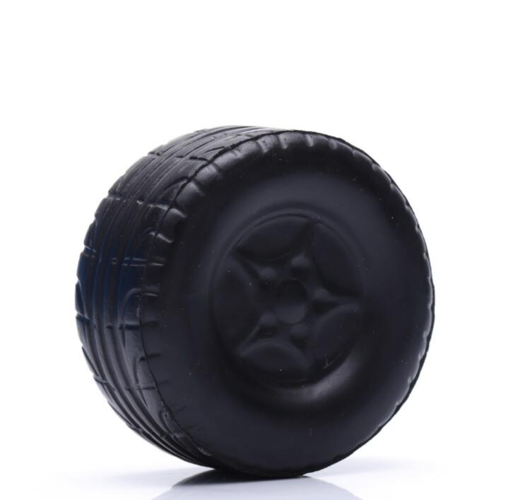 Custom Logo Printed PU Stress Car Tyre Toy for Promotion