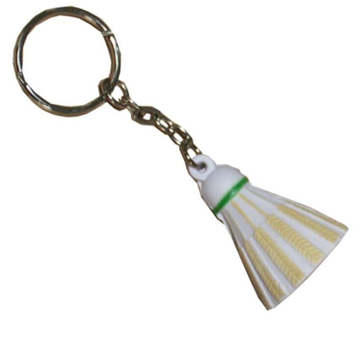 Wholesale PU Badminton Stress Reliever Toy with Key Ring