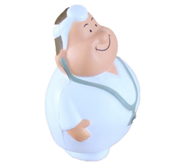 Customized Logo Doctor Shape PU Stress Toy