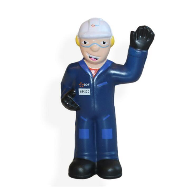 Custom Cheap PU Foam Stress Toy Worker Man Shape