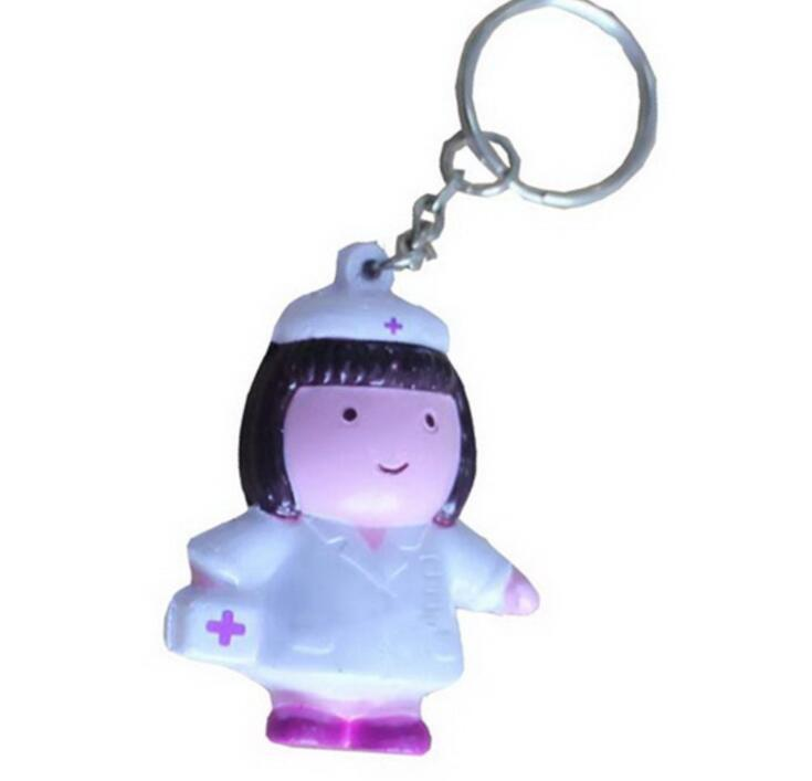 Wholesale Nurse Shape PU Stress Toy Keychain