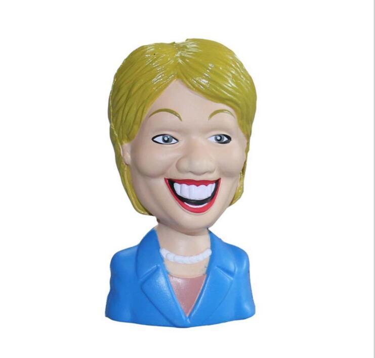 Custom PU cartoon head Anti-stress Toy with Logo Printing