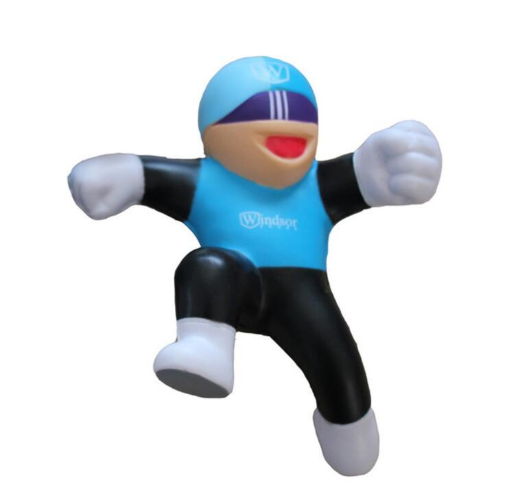 Factory Supply PU Foam Anti-stress Toy Running Boy Shape