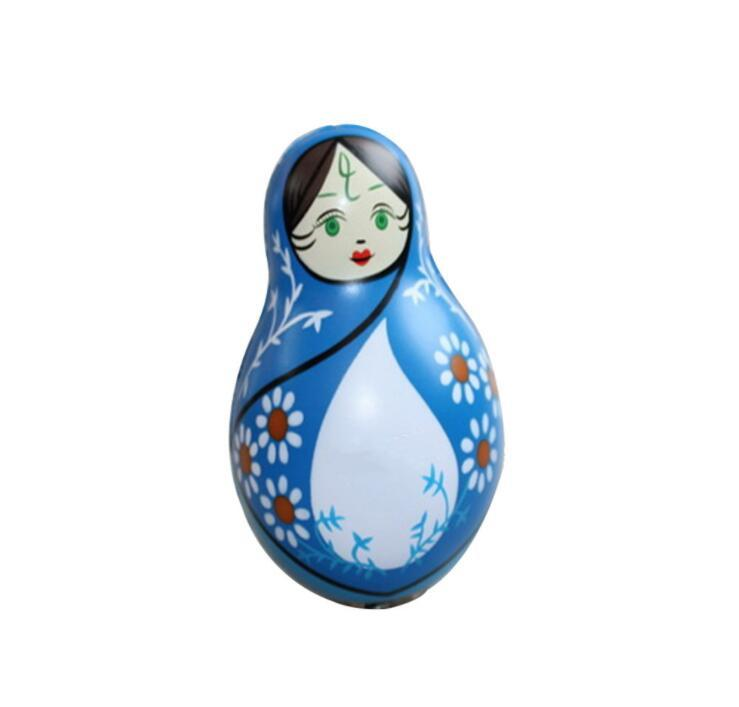 Russian Doll Shape PU Stress Relief Toys for Souvenir Gifts
