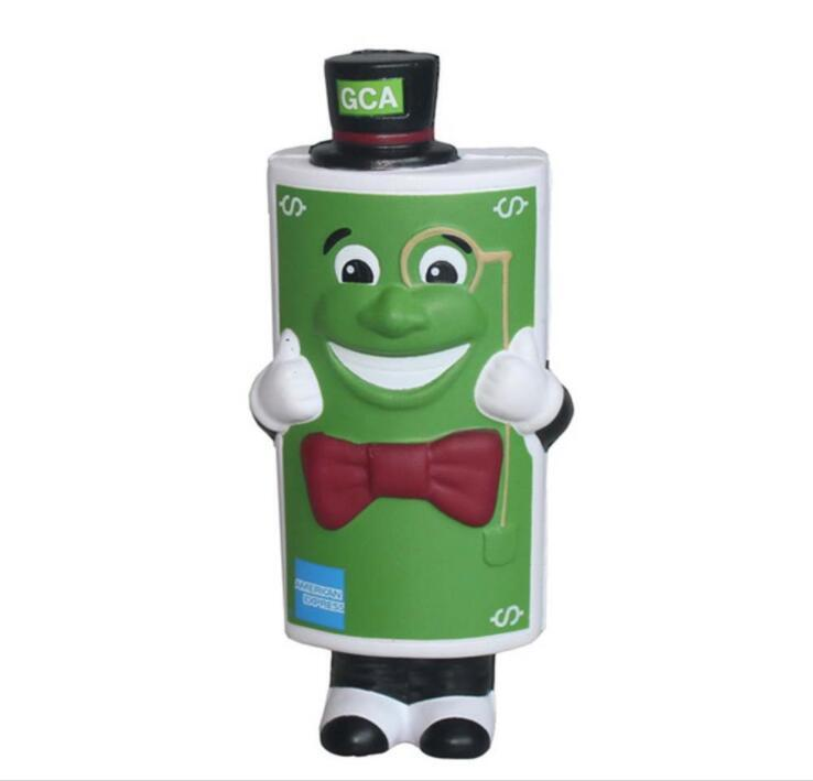 Stress Toy Cartoon Character Battery Design with Custom Logo