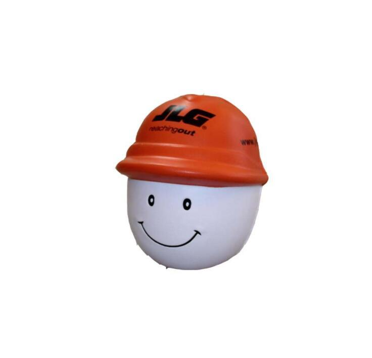 Worker with Helmet PU Stress Ball Toy With Logo