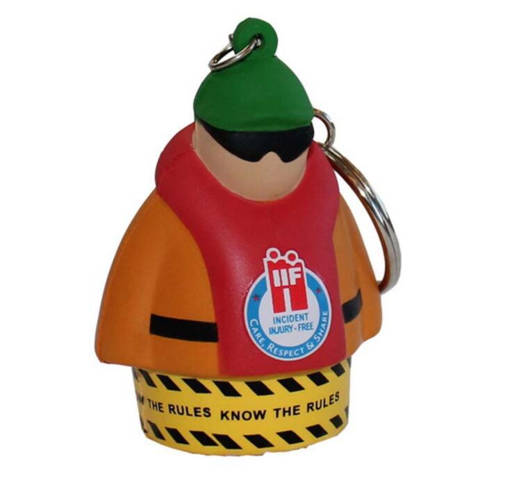 Customized Stress Relieve Toy Man Shape With Key Ring