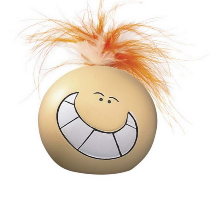 Smile Face Stress Ball with Hair