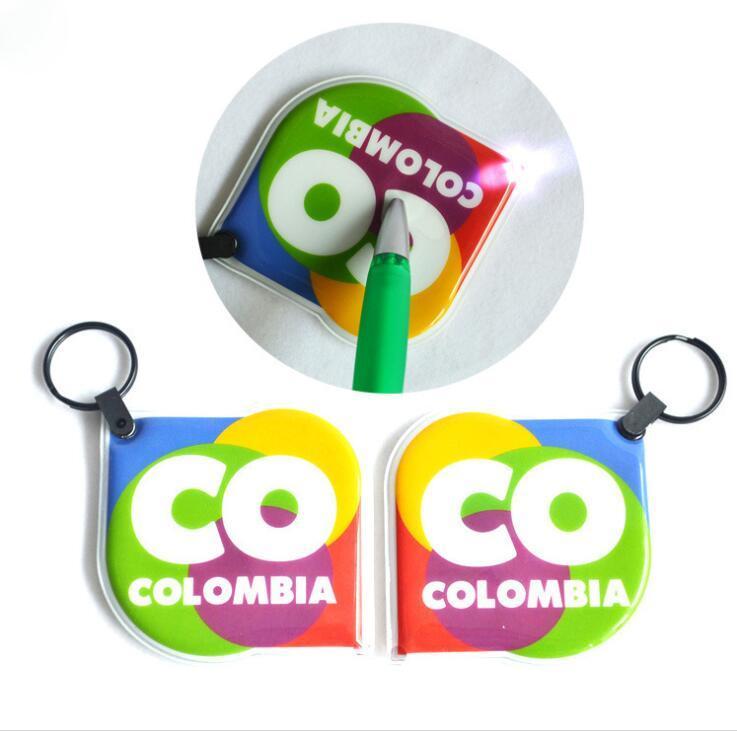 Custom Logo Promotion Gift Soft PVC LED Keychain With Light
