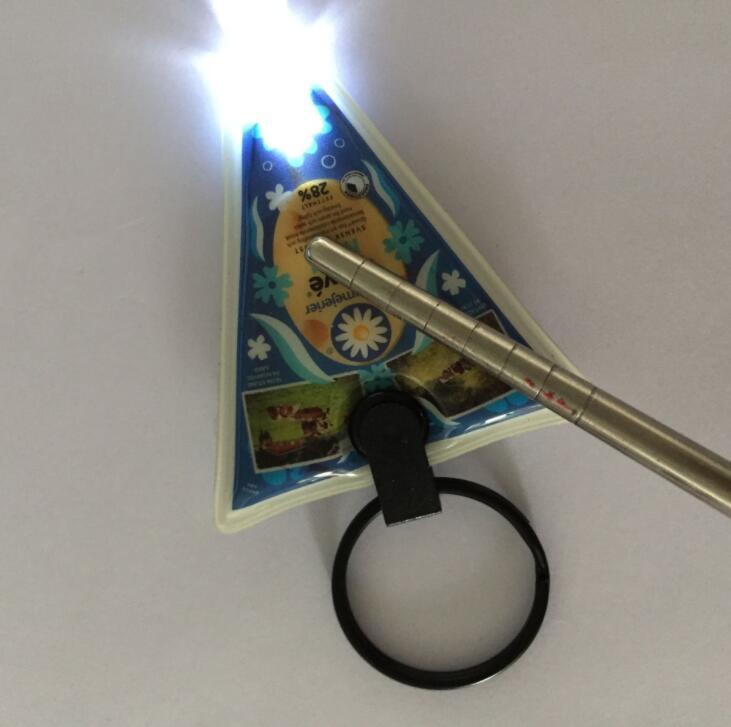 Custom Design Promotional Soft PVC Keychain with LED Light