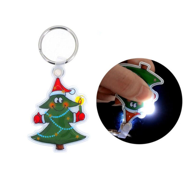 Custom 3D Reflective LED Soft PVC Keychain