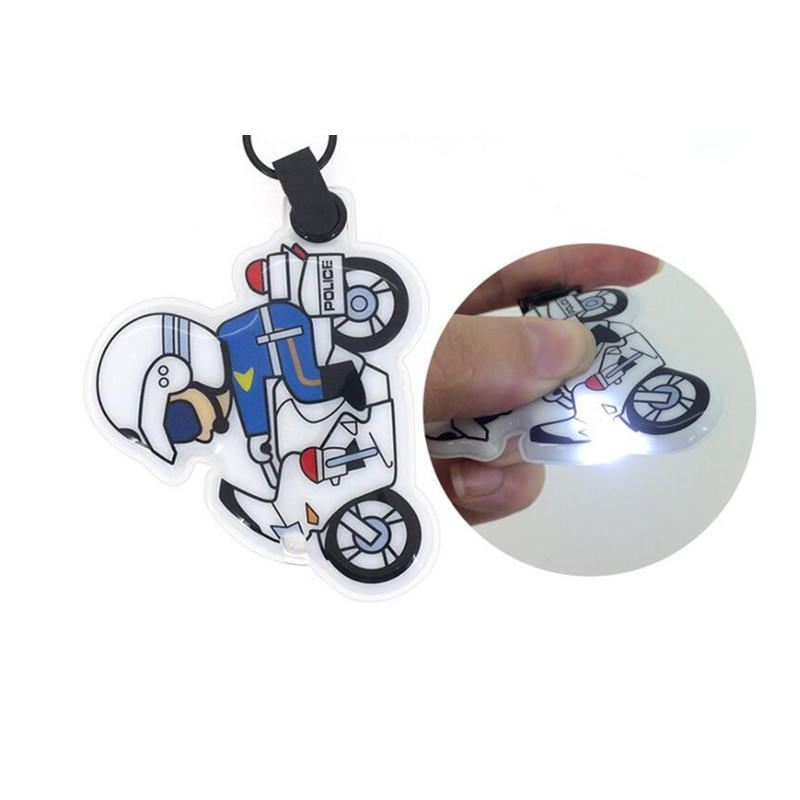 Customized Cartoon PVC Soft Rubber LED Light Keychain