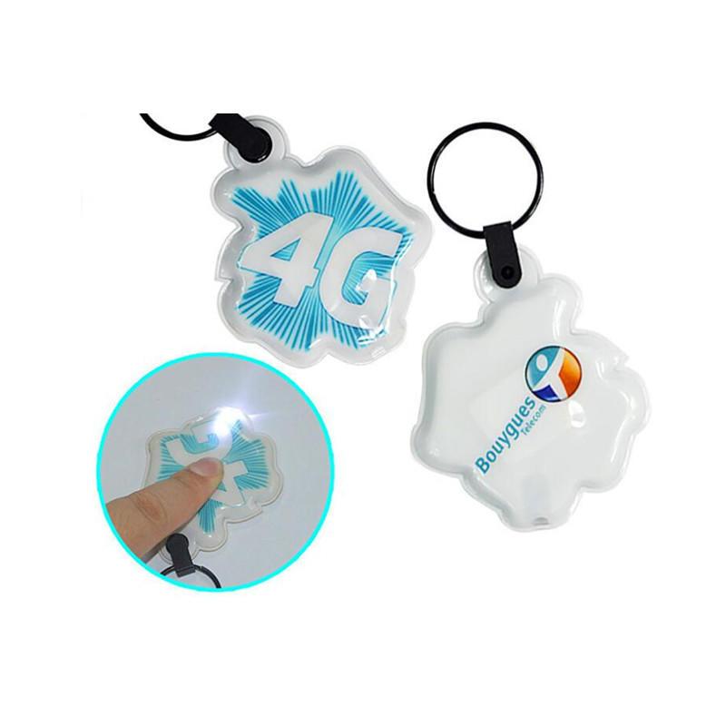 China Promotion Custom 3D Logo Plastic PVC LED Keychain