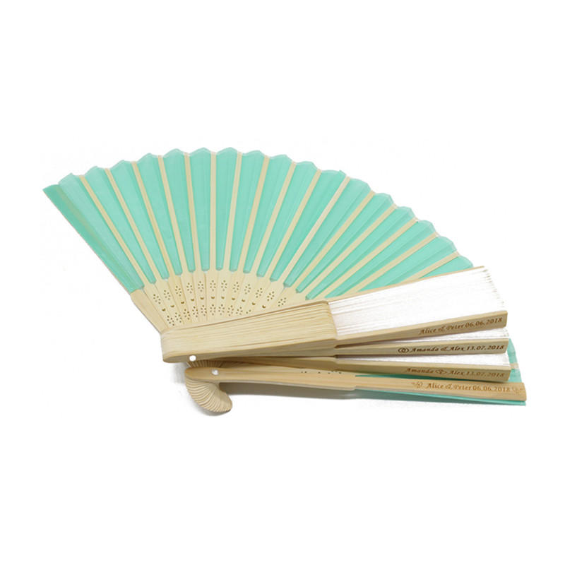 Custom Printed Paper Folding Bamboo Hand Fan