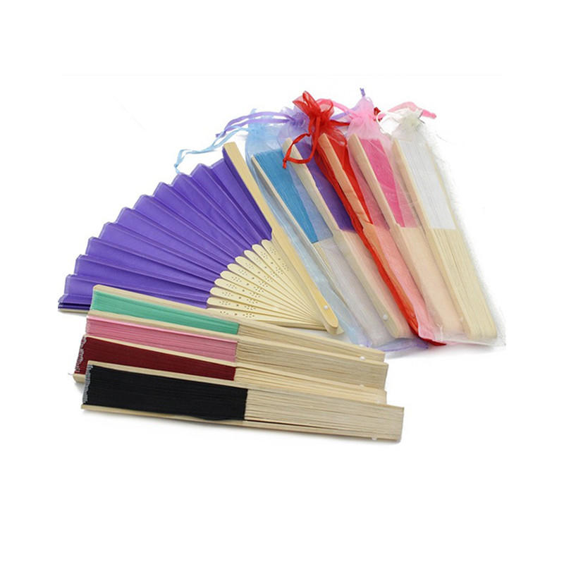 Bamboo Craft Paper Hand Fan with Custom Design Printed