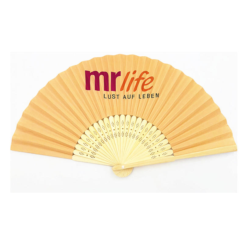 Factory Supply Bamboo Hand Fan With Custom Design