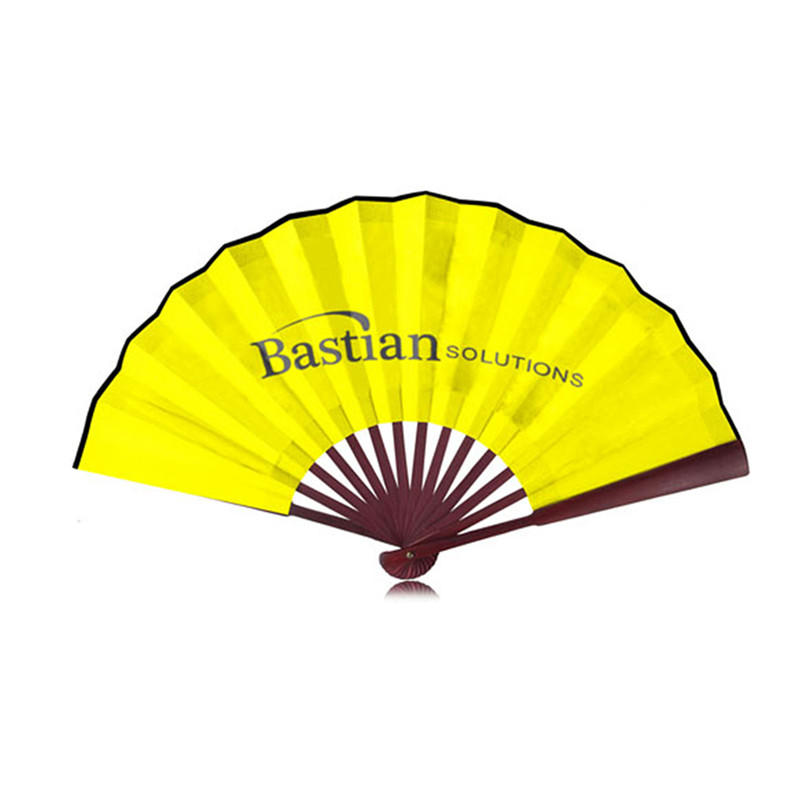 Custom Printing Chinese Traditional Hand Hold Bamboo Paper Fan