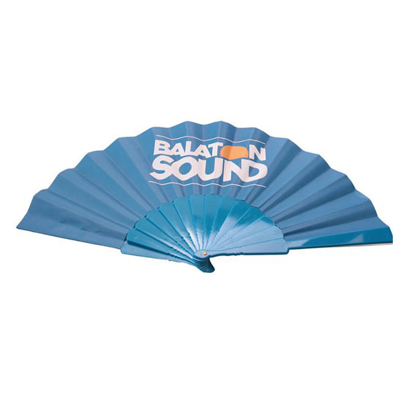 23cm Custom Printed Plastic Folding Hand Fan