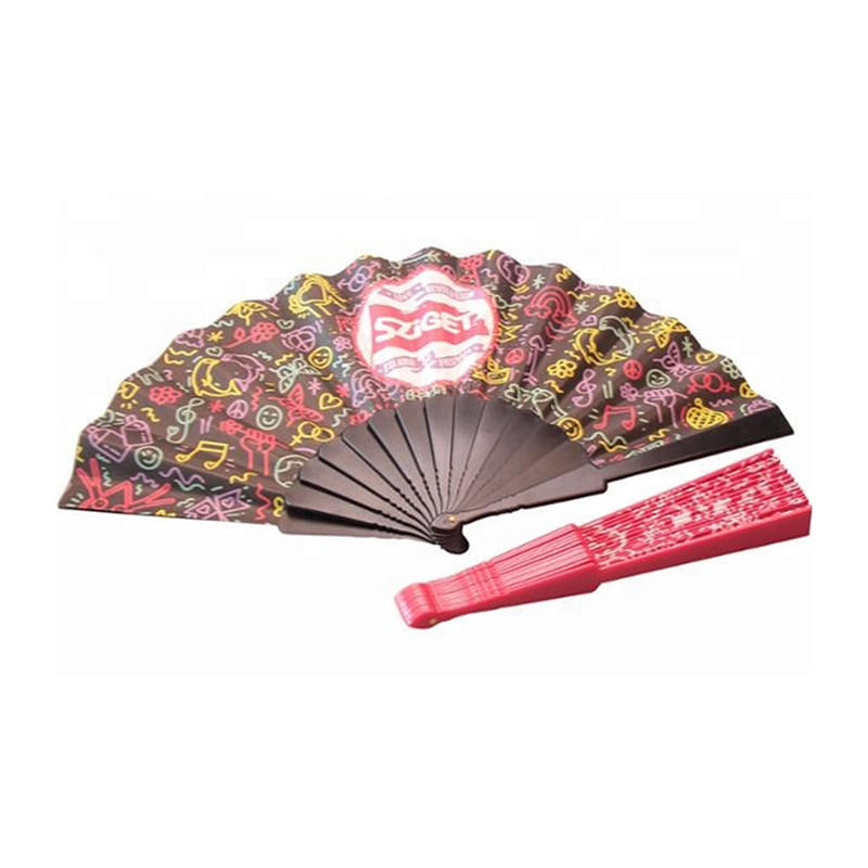 Customized Promotional Plastic Folding Fan