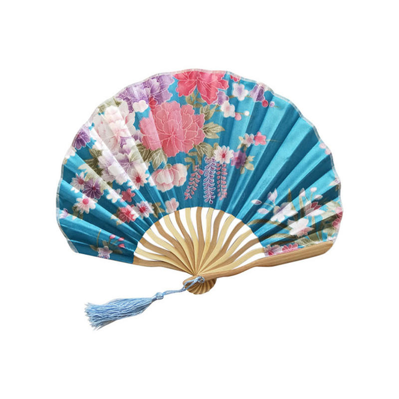 Wholesale Folding Hand Fans Custom Promotional Polyester Hand Fan