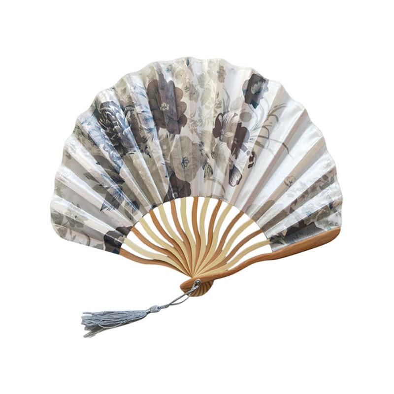 Wholesale Folding Hand Fans Custom Promotional Polyester Hand Fan