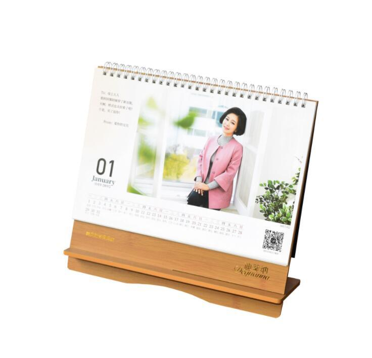 Custom Printing Colorful Desk Wooden Calendar for Promotion