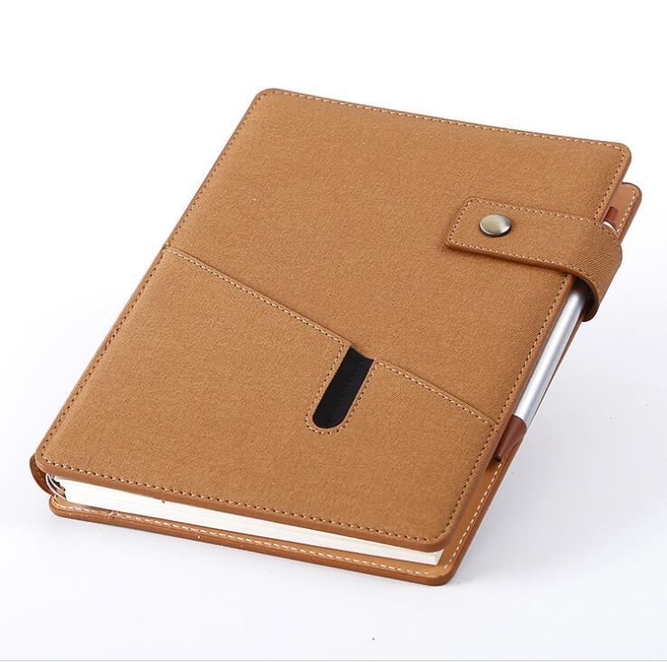 Custom Printed Business Notebook with PU Leather Cover