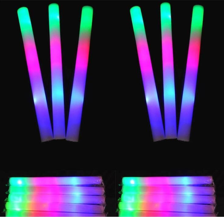 Custom Wholesale Foam Glow Stick Light up LED Flashing Foam Stick