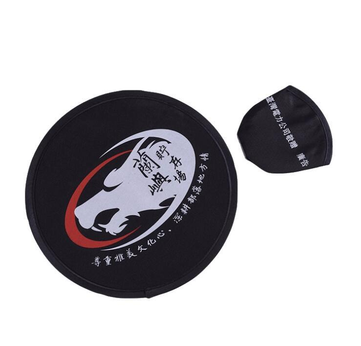 Custom Portable Frisbee Foldable Fan With Pouch