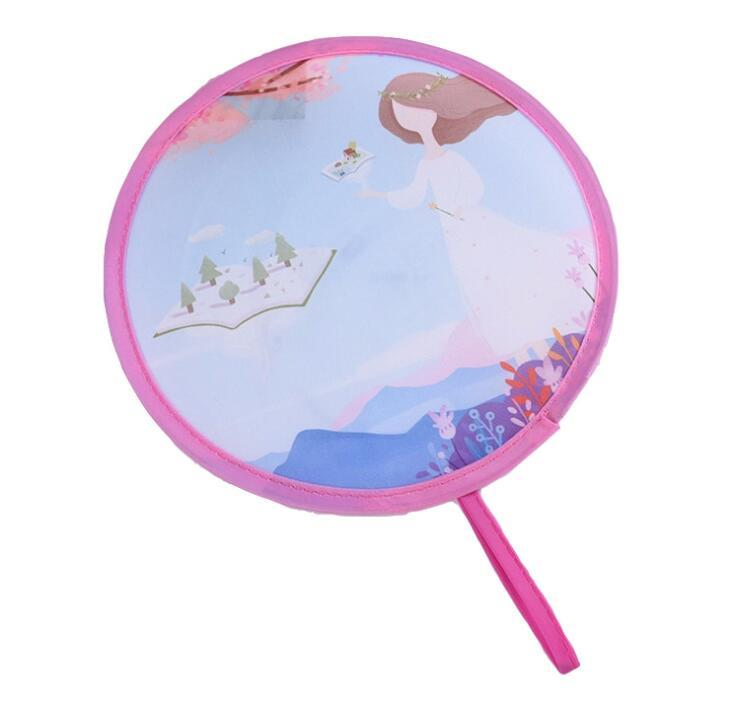 Manufacturer Custom Round Nylon Folding Fan WIth Logo